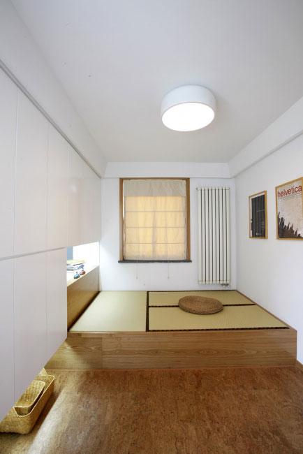 简单三居室日式风格榻榻米效果图