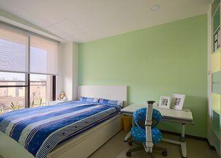 清爽蓝绿色简约儿童房效果图