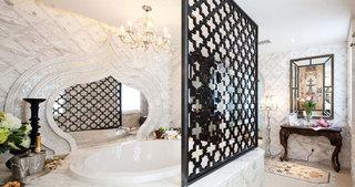 时尚东南亚风洗手间效果图