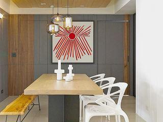 现代文艺混搭餐厅隐形门装饰效果图