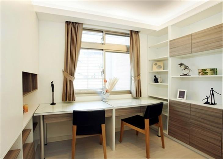 现代简约二居室书房装潢效果图
