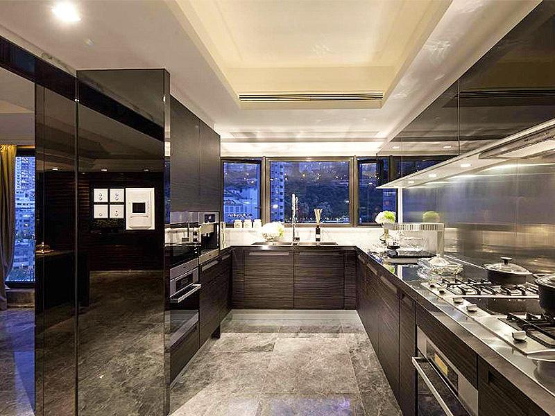 奢华后现代风厨房橱柜效果图