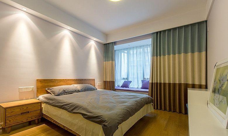 复古北欧装修卧室窗帘效果图
