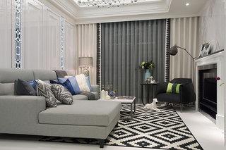 欧式客厅创意沙发背景墙效果图