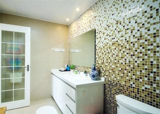 现代时尚家装卫生间马赛克瓷砖效果图