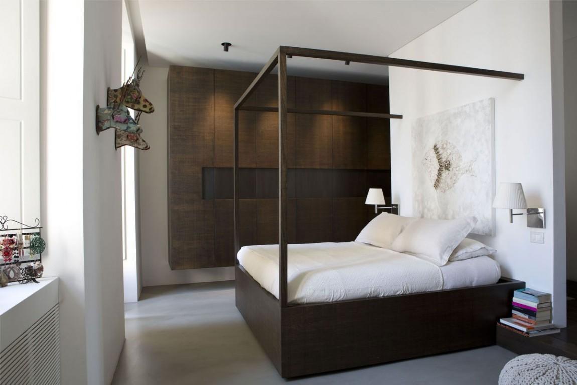 现代简约风格家装卧室布局效果图