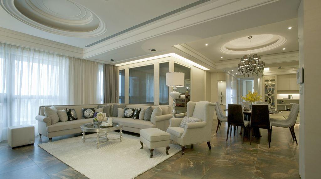 古典二居室家装客厅效果图