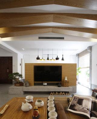 简单日式风格家装电视背景墙效果图