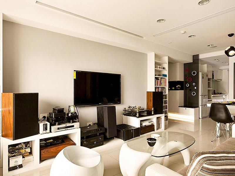 现代简约客厅电视柜隔断效果图