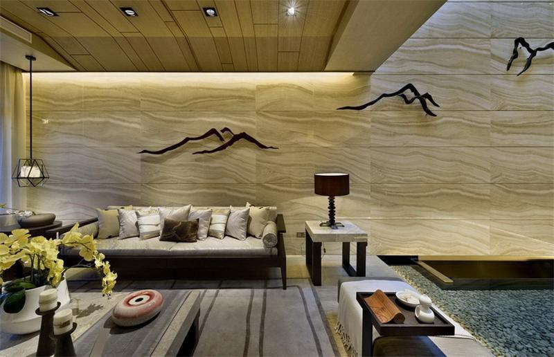 中式风格客厅背景墙装修效果图