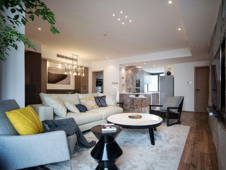 现代时尚小户型客厅装修效果图