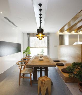 简单三居室日式风格餐厅效果图
