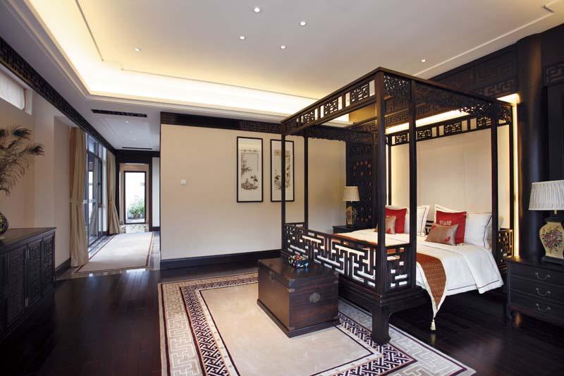 新古典中式主卧室效果图