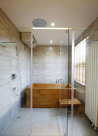简单三居室日式风格家装卫生间效果图