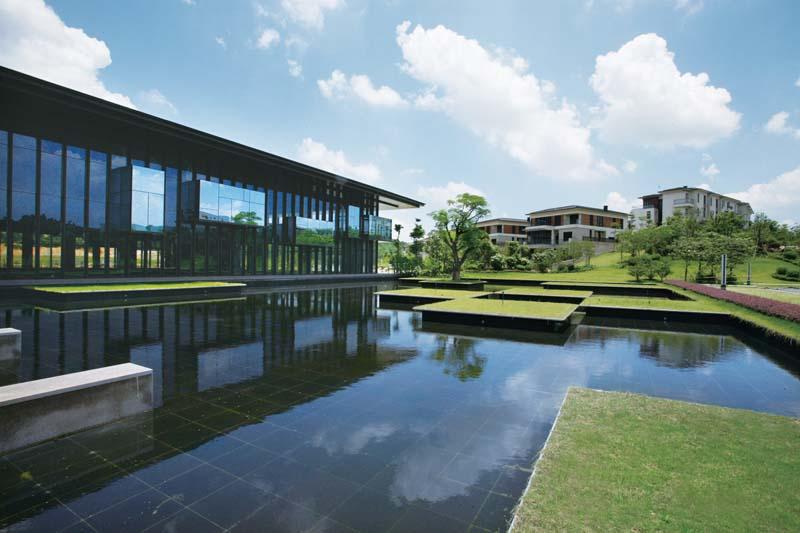 新中式超大花园效果图