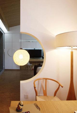 简单三居室日式风格家装隔断效果图