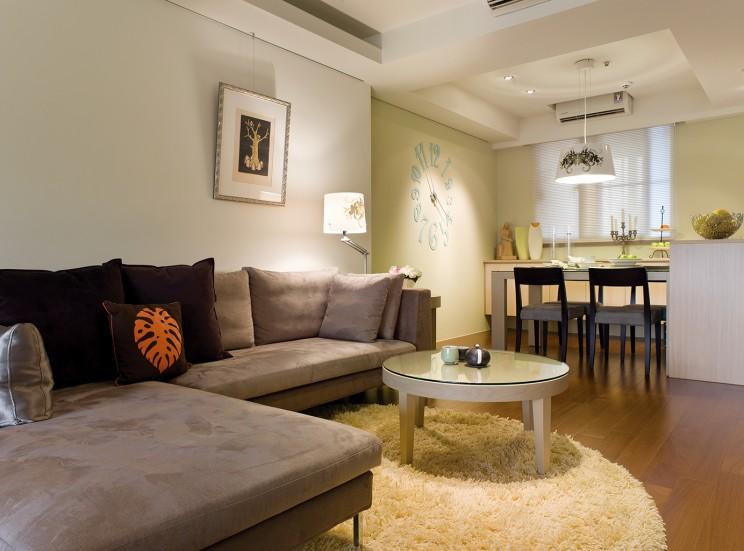 现代简约风格二居室客厅设计效果图