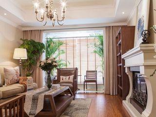 简洁、舒适复古美式三居室装修效果图