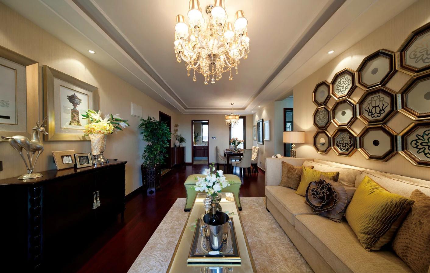 奢华现代美式装修客厅装饰