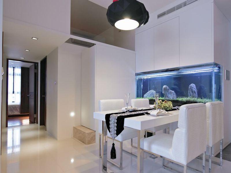 舒适现代餐厅风水鱼缸效果图