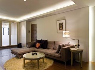 现代简约风格小客厅装潢效果图