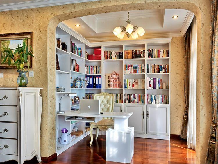 实用现代中西混搭书房之书架