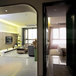 现代简约客厅卧室隔断效果图