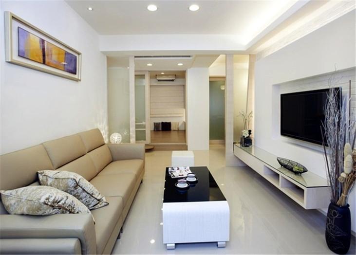 现代简约二居室客厅装潢效果图