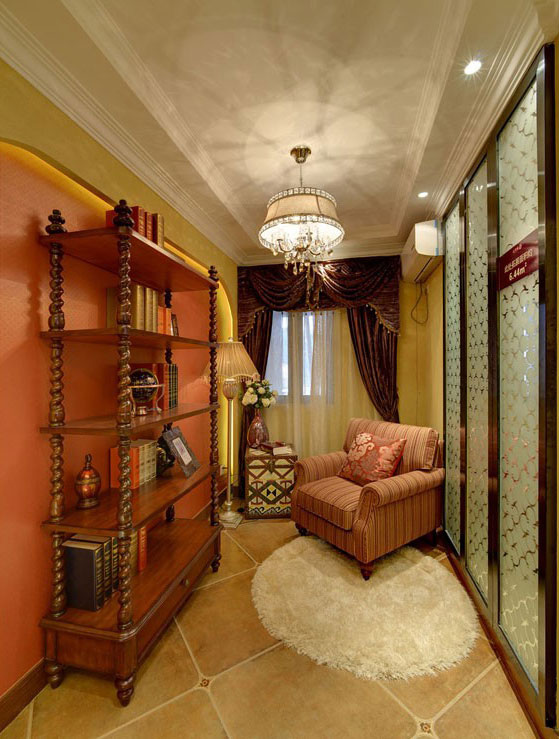 三居室美式风格书房装修效果图