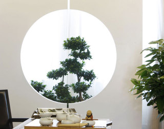 简单三居室日式风格家装隔断图