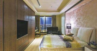 舒适软包电视背景墙欧式卧室效果图