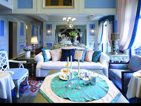 保利高尔夫花园 海蓝色简欧式别墅