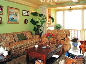 华清嘉园 色彩打造美式乡村三居室