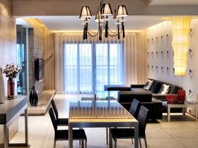 8万富装3居室 时尚简约自然之家