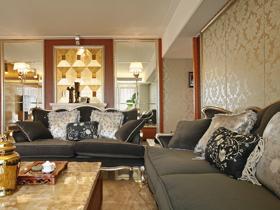 空间设计蓝色假日 欧式新古典三居室