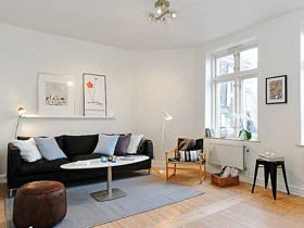 瑞典50平白色小公寓
