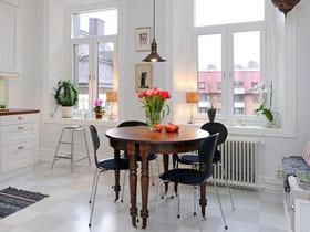精致温馨北欧风 93平白色公寓