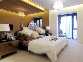 雕花吊顶 白色古典欧式公寓