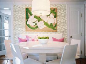 花朵小圆桌 27个餐厅布置方案