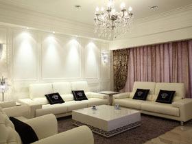 纯白中的华丽 160平四房两厅