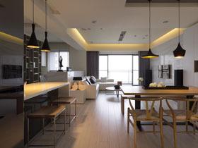 简约现代风 110平现代公寓