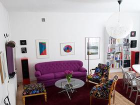 精心设计的格局 优雅妩媚一居室