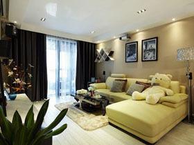 现代简约二居室 5.2万半包70平米