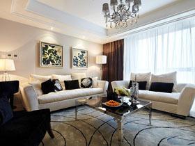 11萬裝出低調小奢華 現代時尚三居室