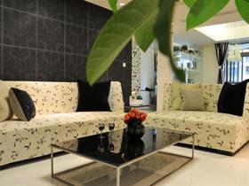 黑白配+清新绿 现代简约二居室