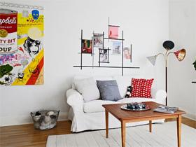 快速变美沙发墙 18款沙发装饰画背景墙
