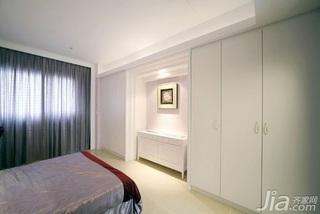 简约风格二居室5-10万60平米玄关床新房家装图片