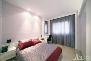 简约风格二居室5-10万60平米玄关窗帘新房设计图