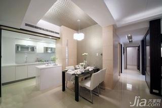 简约风格二居室5-10万60平米玄关吊顶餐桌新房家装图