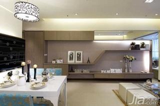 简约风格二居室5-10万60平米玄关背景墙灯具新房家装图